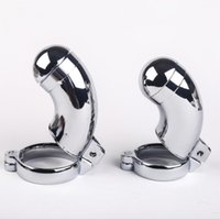 Wholesale Chasity Cages - SM stainless steel male Chastity belt cage , Stainless Steel male chasity cage Sex Toy for men metal cock ring CD008
