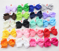 Wholesale Ribbon For Hair Accessories - new 2015,2.75 inch Ribbon Boutique Hair Bows For Children Hair Accessories Baby Hair bows with Clip 80 pcs,20 colors