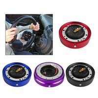 4 colores Universal Car Racing Steering Wheel Quick Release Hub Adapter Snap Off Boss Kit Aluminio