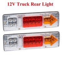 luces traseras de camión al por mayor-2 x 19-LED UTE Camión Remolque Camión Lorry Pare la luz trasera de la luz indicadora de la cola trasera orden $ 18no track