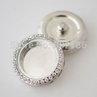 Wholesale Name Brand Accessories Wholesale - New Floating Locket Snap Button Charm Jewelry Fit On Popular Brand Name Snap Accessories Fasten Button For Bracelets Bangles
