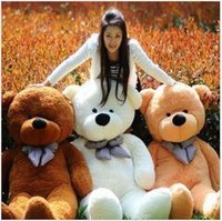 Wholesale Huge Giant Teddy Bears - Hot Sale 80 Cotton Light Brown Giant 80cm Cute Plush Teddy Bear Huge Soft TOY