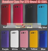 Wholesale S2 Case Transparent Back - 2015 PC Hard Back Case For ZTE Grand S2 Phone Ultrathin Matte Frosted Cover Case For ZTE S291