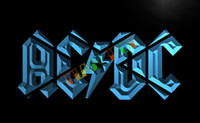 sinais conduzidos venda por atacado-LF079-TM ACDC ACDC Banda Música Bar Club Neon Light Sign. Propaganda. painel de led, frete grátis, atacado frete grátis, atacado
