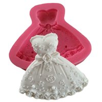 3D Jupe Princess Dress Cake Mold Silicone Forme Fondant Cake Decorating outil pâtisserie Outils Moldes galletas