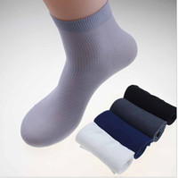Wholesale Male Nylon Socks - Wholesale-sock new hot Mens Socks Ultra-thin Male Breathable Socks for summer 10 pairs lot one lot same color,Male bamboo fiber socks