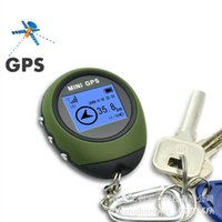 Wholesale Hours Hand - Free Shipping Outdoor MINI GPS Navigation System Compact Size Only 39.6g Real Time Speed Latitude Longitude Last for 17 Hours for Hiking