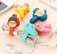 Wholesale Earphone Cute Cartoon - creative cute cartoon earphone winder cable management hubs cable winding device