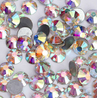 Wholesale Crystal Diamond For Nail Art - Wholesale-Free Shipping Good Feedback Swarovski AB Crystals Rhinestones Nail Art Jewelry Diamonds Nail Decoration Supplier for Salon Use