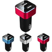 güncel izleme toptan satış-Evrensel Çift USB Araç Şarj Adaptörü 5 V 3.1A 2-Port Çıkış Gerilim Akım Monitör Araç Gerilim Ekran Ölçer metre Ücretsiz Kargo