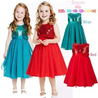 Wholesale Girls Red Gauze Dress - 2015 NEW Rose flower girls dress skirt Sequin gauze kids dress,Classic children clothing B001