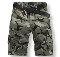Wholesale Men S High Fashion Discount - Discount men's fashion camouflage overalls cotton shorts high quality 2014 new European and American gym shorts men camping hiking trousers
