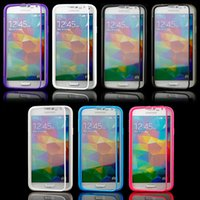Candy Colorful Soft TPU Transparent Clear Flip Case Housse pour iPhone 8 7 6 6S Plus 5 5S Samsung Galaxy S7 bord S6 Note 5 Écran tactile