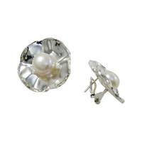 Wholesale Pearl Bridal Earings - Bridal Chandelier Earings for Wedding Unadjustable Foral Dangle Earrings Fresh Water Pearl Inexpensive Ladies Earrings E1001