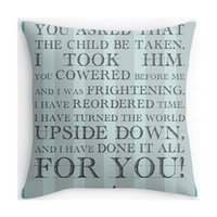 Wholesale quotes movies - Wholesale- Pillow Case Hot Selling Labyrinth Jareth Movie Quote Letters Customized Zippered Covers Square Pillowslip for Home Soft Double