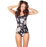Wholesale Short Sleeve Black Ladies Suit - Plus Size Lady Women Bathing Suit One Piece Swimsuit Sexy Swimwear Short Sleeve O-neck Sexy Swimwear Swimsuit Beachwear 50