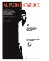 Wholesale Poster Scarface - Scarface- Al Pacino Black and White Classical Stylish Nice Home Decor Retro Poster In Size (50x76cm) Wall Sticker Free Shipping