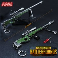 PLAYERUNKNOWNS BATTLEGROUNDS Keychain PUBG Portachiavi Pot Metallo Fashion Car Armi modello ornamenti Ornamenti giocattolo AWM