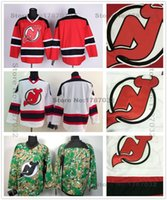 Wholesale Nj Hockey Jersey - 2016 New, Cheap New Jersey Devils Hockey Jerseys Blank Home Red Road White Camo Authentic Blank NJ Devils Jersey Stitched Embroider Lo