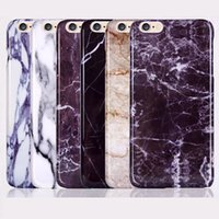 Wholesale Iphone Cases Stones - For iphone 6 6s 4.7 Plus 5.5 Marble Stone Image Cases 2016 New Plastic Painted Hard Back Case Cover Phone Shell