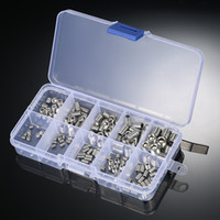 Wholesale allen head - 200pcs Allen Head Socket Hex Set Grub Screw Stainless Steel Socket Screws Assortment Point Column M3-M6 M8 Hexagonal Screw Kit
