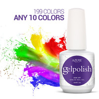 Wholesale Gel Nail Polish Free Shipping - 10pcs lot Soak off color Gelpolish led & uv gel nail polish Gelpolish gel nail art gel lacquer varnish UV gel polish free shipping