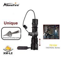 Wholesale L2 Flashlight - TK104 L2 LED Tactical Gun Flashlight 2200LM 5 mode Pistol Handgun Torch Light Lamp Taschenlampe+gun scope mount+remote switch