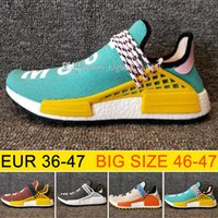 Wholesale Cheap Running Shoes For Womens - Cheap New Hu NMD HUMAN RACE Trail boost man Running shoes for men ultra boost nmds Runner shoe Mens womens Run Sport sneakers SIZE 36-47