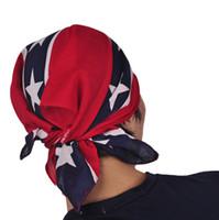 Wholesale Wholesale Confederate Flags - Printed Flag Confederate Rebel Civil War Flag National Polyester rebel flag bandanas flag print bandana headband for adult bandanas(1712028)