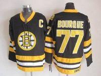 Wholesale Boston Apparel - Boston Bruins #77 Bourque Hockey Jerseys Brand Embroidered Hockey Jersey Authentic Men Hockey Wears Outdoor Hockey Apparel for Cheap Sale