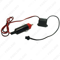 Wholesale 12V DC Car Decoration EL Fibre Neon Glow Lighting Rope Strip Power Driver Inverter With Cigar Cigarette Lighter