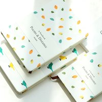Wholesale Sweet Notebook - Wholesale- Mercii New Arrival Korea Stationery Kawaii Diary Cotton Printed Hardcover Notebook Sweet Desin Secret Girl Diary Cute Notepad
