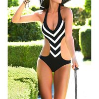 Sexy Frauen Waved Side Cut Padded Wireless-Monokini Badeanzug Badeanzug NVIE bestellen $ 18NO Spur