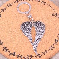 Wholesale Metal Rings Wings - New souvenirs, metal angel wings, key chains, creative gifts, key rings: Apple car key rings