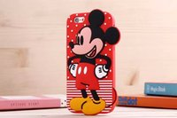 Wholesale Stitch Back Case - for iPhone 6 case cartoon Mickey Minnie Stitch design soft TPU silicon silicone back cover for iPhone 5 iPhone 6 plus wholesale