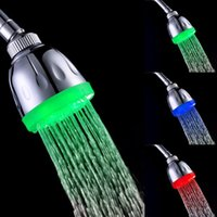 Wholesale Chrome Bath - water power four types for your chosen 7 colors fading Magic LED Shower head home bath