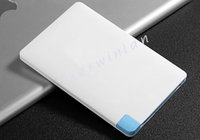 Wholesale Blackberry External Power - Power Bank ultra-slim Credit Card External Portable 2500mAh for Samsung Phones Htc Blackberry Android Smartphones free shipping