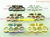 Wholesale Tools Box Equipment - Mafia Knuckle dusters Metal alloy Brass knuckles Self Defense tool Personal Security equipment Iron fists Boxing gloves 6 colors selectable