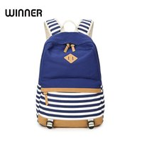 Vencedor Brand College Striped Women Mochila Bolsas diárias de livros Fringe Bagpack 15,6 polegadas Computer Student Bag for Teenagers Girls
