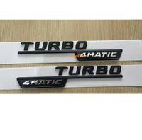 etiqueta engomada de la insignia de turbo al por mayor-TURBO negro 4MATIC letras Trunk Emblem Badge etiqueta para Mercedes Benz AMG