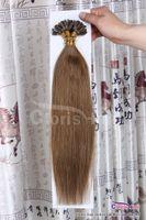 "Wholesale Hair Fusion Sale - Sale #6 Chestnut Brown 100Strands Pre boned Nail U tip Italian Keratin Fusion Human Hair Extensions European Remy Straight 0.5g s,18-22"""