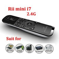 Tastiera Rii Mini i7 2.4G Mini Wireless Air Mouse Combo a distanza incorporato 6 assi per la TV BOX Mini / Laptop PC 10m Distanza operativa A5