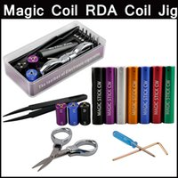 Wholesale Universal Tools Coil Jig - Magic coil rda jig universal coil jig tool box 6 in 1 metal winding sticks Tool Atomizer Coil Koiler Wire Tool
