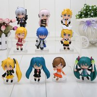 Wholesale Miku Figures - Nendoroid 2.4'' Petit Vocaloid figure Good Smile Hatsune Miku 10pcs = 1 set