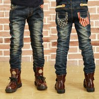 Wholesale Boys Size 3t Jeans - free shipping Hot sale children's jeans boys wild baby kids fashion jeans children jeans big size 3-12years 03