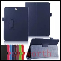 Wholesale S Flip Case - Magnetic Stand Flip Folio Leather case for Samsung Galaxy tab E A S2 S T550 T280 T580 T710 T800 T810 T560 T377 cover