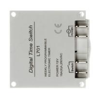 Wholesale 12v Digital Timer Switch - Wholesale-2 pcs Lot _ Digital LCD Power Programmable Timer Switch Controller 16A 12V For LED Strip Lights