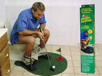Wholesale New exotic leisure sports good quality potty putter toilet golf game Mini golf set toilet golf putting green