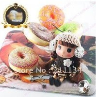 Wholesale Donut Mobile - Wholesale-Wholesale!!New Cute cartoon Donut II squishy charm (bite)   mobile phone strap Pendant,Free Shipping!!