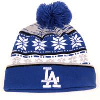 Wholesale Dodger Beanies - Wholesale-2015 Hot New MLB Los Angeles Dodgers Beanie LA Dodgers hat knit cap For Women And Men Warm Woolen Hats hip-hop hat